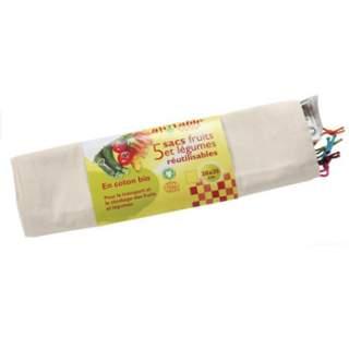 5 sacs réutilisables fruits et légumes Ah Table !