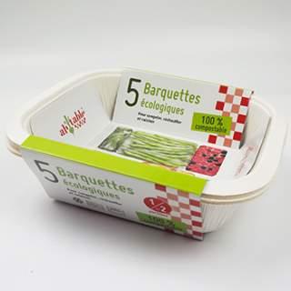 5 petites barquettes compostables écologiques Ah ! Table !