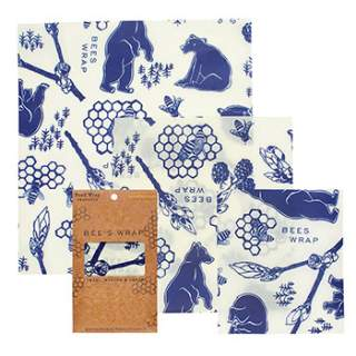 3 emballages Bee's Wrap motif Bear S-M-L