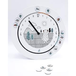 Horloge 24 heures 20 aimants Odette & Jeannette - Monstre