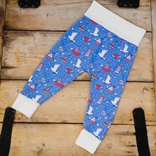 Pantalon en coton bio Culla Di Teby évolutif - Bateaux