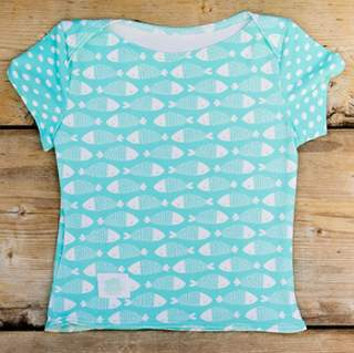 Tee-Shirt anti-UV Culla Di Teby - Poissons