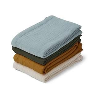 Petits langes en mousseline de coton bio Liewood - Blue multi mix