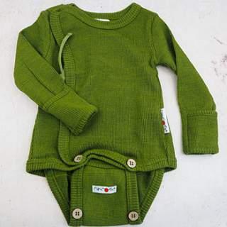 Body Kimono en laine mérinos Manymonths - Garden Moss Green