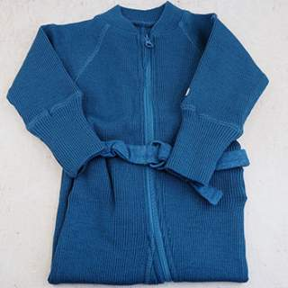 Combinaison évolutive en laine mérinos Manymonths - Cosmos Blue