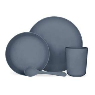 Set vaisselle végétale Label Tour - Bleu
