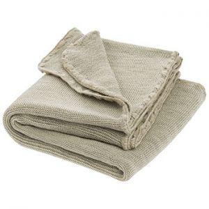 Couverture en laine merinos Disana - gris/naturel
