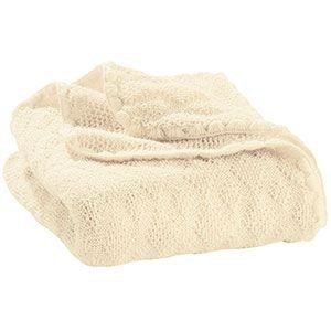Couverture en laine merinos Disana naturel