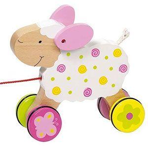 """Mouton en bois """"Suse"""" à tirer Goki"""