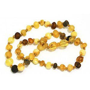 Collier d'ambre mix multicolore