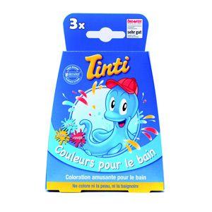 Boite de 3 pastilles de couleur pour le bain Tinti