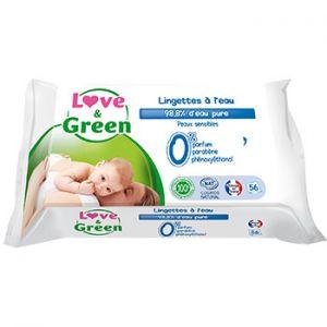Lingettes jetables à l'eau micellaire Love & Green