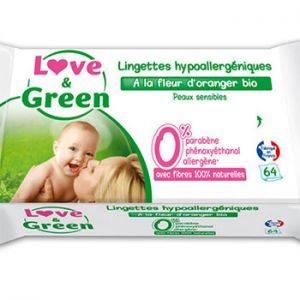 Lingettes jetables à la fleur d'oranger BIO Love & Green