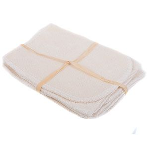 Lot de 5 gants de change Coton bio biface Les tendances d'Emma