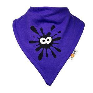 Bavoir bandana Lookidz Ink fond violet