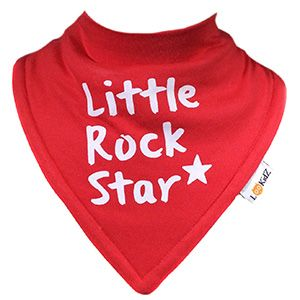 Bavoir bandana Lookidz Little Rock Star rouge