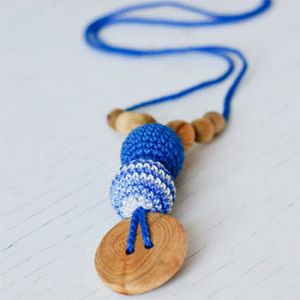 Collier d'allaitement / portage KangarooCare Rayé bleu