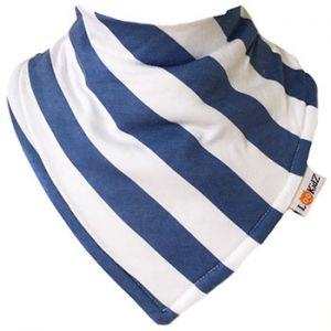 Bavoir bandana Lookidz Rayé blanc/bleu jean