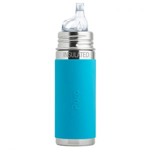 Gourde à bec Inox Isotherme 260ml Pura Turquoise