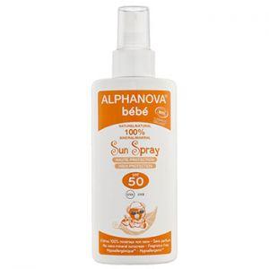 Spray solaire bébé Bio, SPF 50 Alphanova