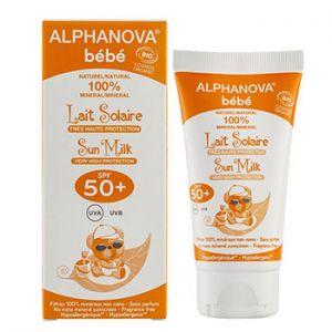 Lait solaire bébé Bio, SPF 50+ Alphanova