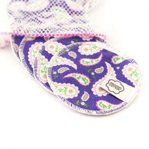 Lingettes démaquillantes lavables Imse Vimse - Purple paisley
