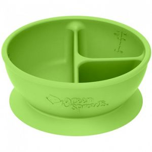 Bol en silicone à compartiment Green Sprouts Vert