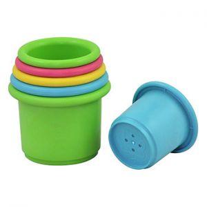 6 gobelets à empiler pour le bain Green Sprouts