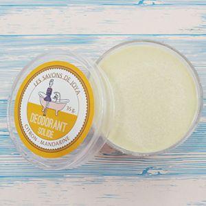 Déodorant solide en boite Citron - Mandarine Les savons de Joya