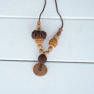 Collier d'allaitement / portage KangarooCare Flower Choco/or