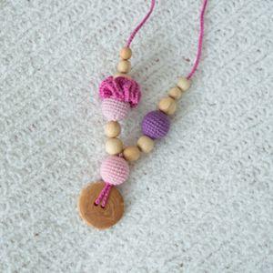 Collier d'allaitement / portage KangarooCare Flower Rose/violet