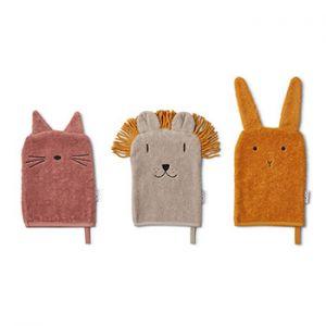 Lot de 3 gants en coton bio Liewood - Lion