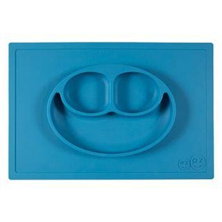 Assiette antidérapante Happy Mat bleu ezpz