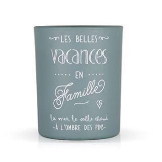 """Bougie Parfumée """"Les belles vacances en famille"""" Créabisontine"""